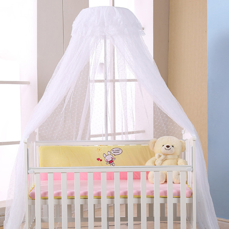 Baby Crib Canopy Bed Mosquito Net Breathable Insect Mosquito Net for Baby Crib Bed Canopy Round Dome Mosquito Netting baby bed curtain kamimi children room decoration crib netting baby tent cotton hung dome baby mosquito net photography props