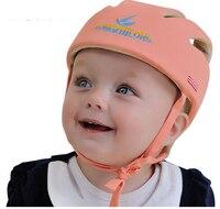 O envio gratuito de Criança Do Bebê Capacete De Segurança Headguard Cap Chapéu Ajustável Sem Solavancos Crianças Caminhada Aprendizagem Capacetes