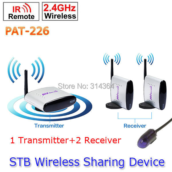1 Transmitter to 2 Receiver PAT-226 EU/US/AU/UK Adapter Smart 2.4GHz Wireless 150m AV Sender TV Audio Video Transmitter Receiver wireless av sender and receiver pat 350 2 4g 250m wireless a v audio video sender transmitter and receiver with eu us uk au plug