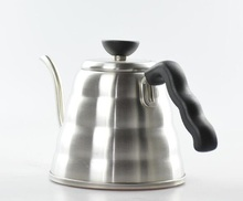 Free Shipping  Bending mouth Stainless Steel Coffee / Tea pot 1000ml