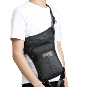 Image 2 - Men Waterproof Oxford Fashion Drop Leg Bag Fanny Waist Pack Casual Shoulder Bag Military Motorcycle Riding Cross Body Pouch