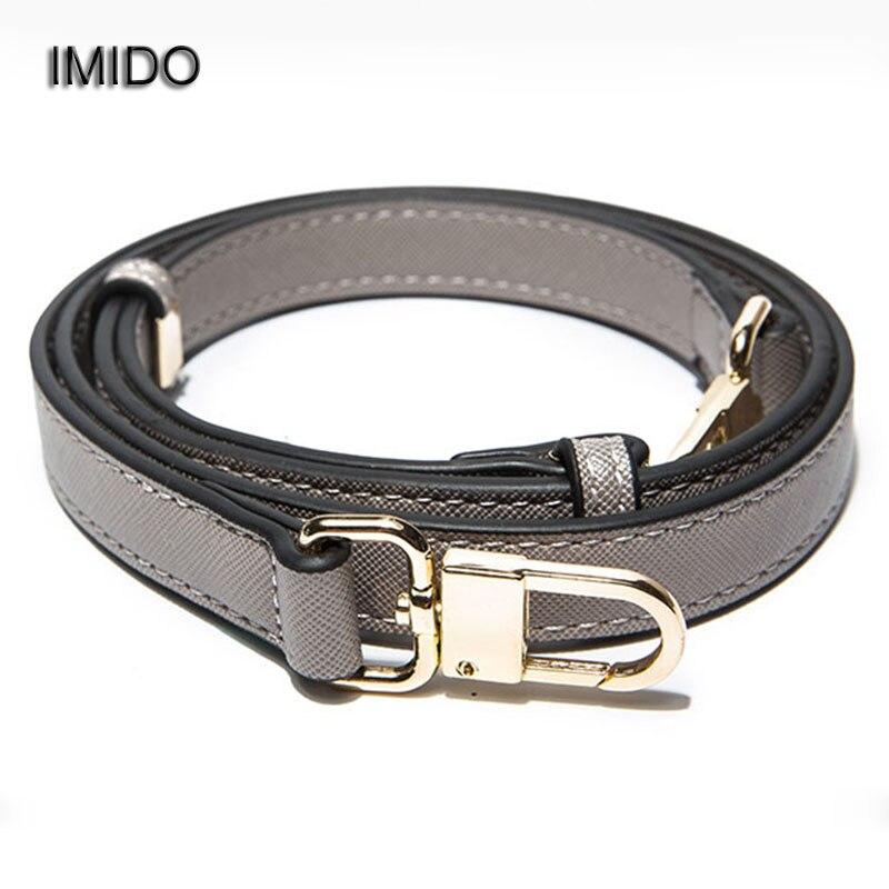 IMIDO 98-110cm Long Strap For Bags Women Replacement Crossbody Shoulder Straps Bag Belt Pu Leather Handbags Accessories STP148