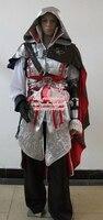 Новый индивидуальный заказ Высокое качество Assassins Creed Косплэй взрослых Assassin's Creed откровения Эцио аудиторе да Фиренце Косплэй костюм