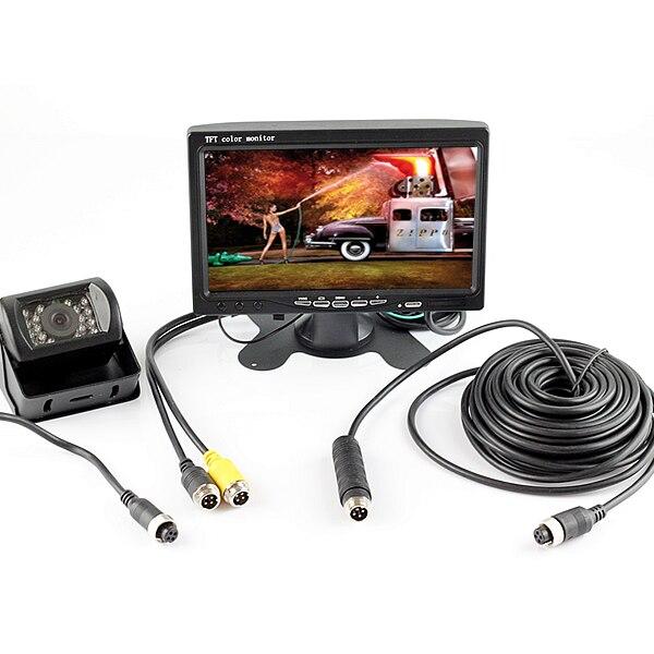 4Pin разъем 12 В в В 24 В дюймов 7 дюймов HD монитор Реверсивный ночного видения заднего вида камера Парковка Комплект для автомобиля Автобус Груз...