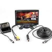 4Pin Plug Connector 12V 24V 7 inch HD Monitor Reversing Night Vision Rear View Backup Camera Parking Kit for Car Bus Truck