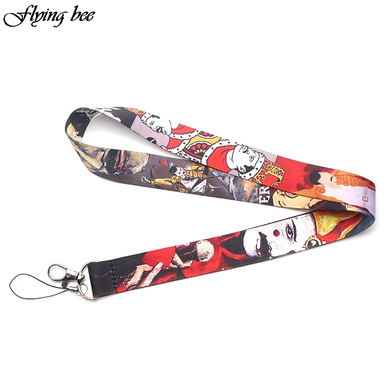 20pcs/lot Flyingbee Freddie Mercury Keychain Lanyard Badge Lanyards/ Mobile Phone Rope/ Key Lanyard Neck Strap Accessories X0086