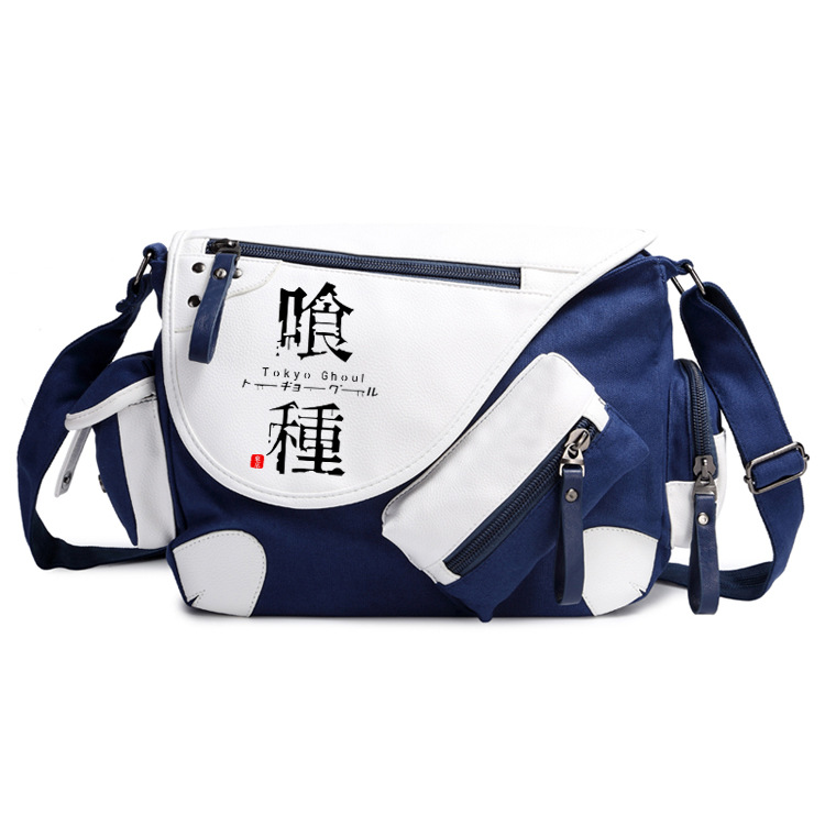 Japan Anime Tokyo Ghoul Canvas Casual Zipper Boys Girls Shoulder Bag Crossbody Bags Schoolbags Messenger Bag Gift sa212 saddle bag motorcycle side bag helmet bag free shippingkorea japan e ems