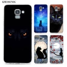 Transparent Soft Silicone Phone Case Black Cat Staring Eye On For Samsung Galaxy j8 j7 j6 j5 j4 j3 Plus 2018 2017 Prime