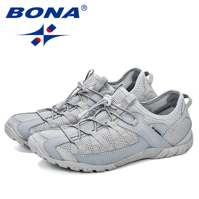 BONA 2018 Summer Sneakers Breathable Men Casual Shoes Fashion Men Shoes Tenis Masculino Adulto Sapato Masculino Men Leisure Shoe in Men 39 s Casual Shoes from Shoes