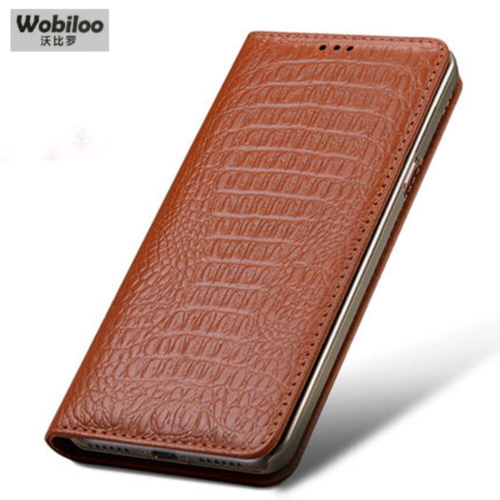 Цена за Wobiloo Крокодил зерна корова натуральная кожа чехол бизнес откидная Подставка телефон аксессуары сумка-чехол для Samsung Galaxy S8 5.7 пакета(ов)