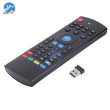 Mx3 2.4ghz teclado de controle remoto sem fio para voar ar mouse android tv conjunto caixa ir controle remoto