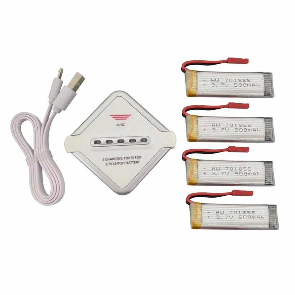4 шт. 3.7 В 500 мАч литиевая батарея + 1 бесплатно 4 зарядное устройство для udi u815a U817A U818A WLtoys V929 V939 v949 V959 V969 V979 V989 V999