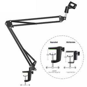 Image 3 - NB 35 Microphone Suspension Arm Stand Clip Holder and Table Mounting Clamp Pop Filter Windscreen Mask Shield Clip Kit