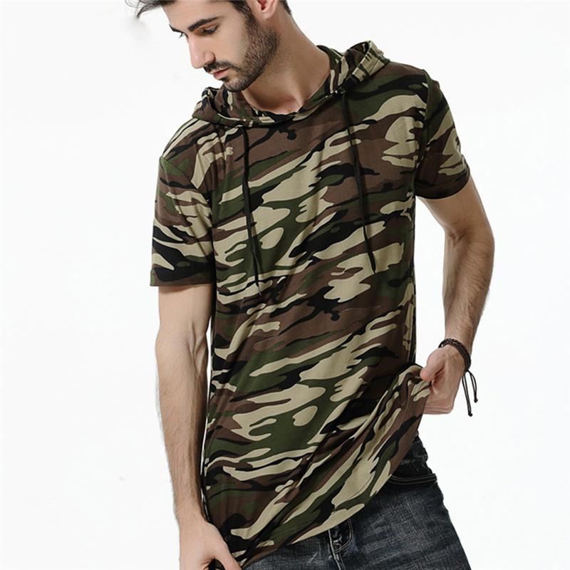 Hooded Tee Shirts Mens
