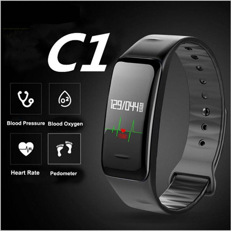 Bluetooth C1 Smart Band Armband Blutdruck Pulsmesser Armband Wasserdichte Fitness Schlaf Tracker Uhr Pk Mi Band 3 Von Der Konsumierenden öFfentlichkeit Hoch Gelobt Und GeschäTzt Zu Werden Intelligente Elektronik