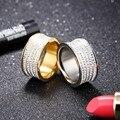 CZ Anéis de Noivado De Diamante 2 Cor Mulheres Silver Rose Banhado A Ouro de Casamento Moda Jóias Frete Grátis