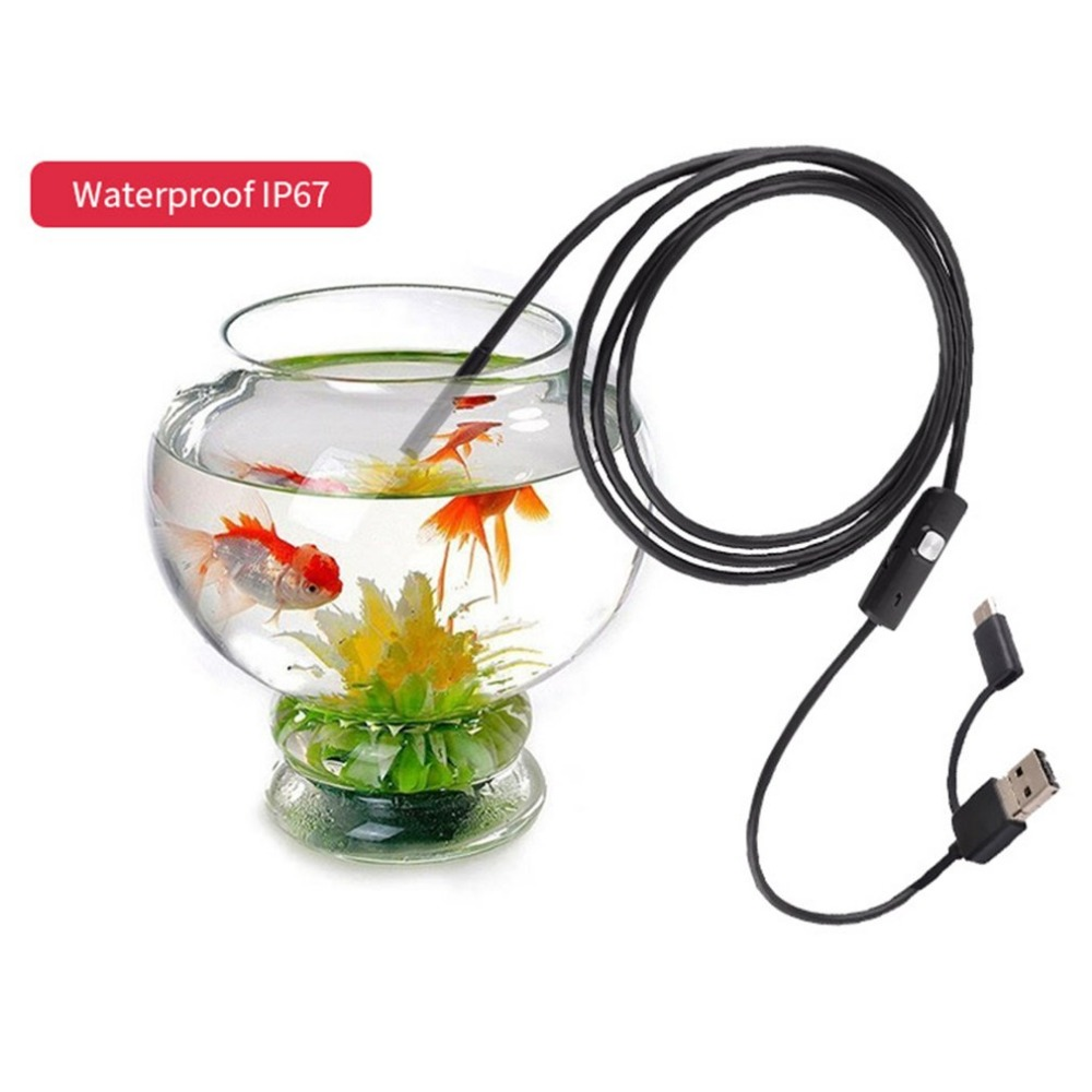 7MM 6LED Waterproof 1/2/3.5/5/10m USB Type-C Endoscope Inspection Tube Portable Size Phone PC Inspection Borescope Mini Camera7MM 6LED Waterproof 1/2/3.5/5/10m USB Type-C Endoscope Inspection Tube Portable Size Phone PC Inspection Borescope Mini Camera