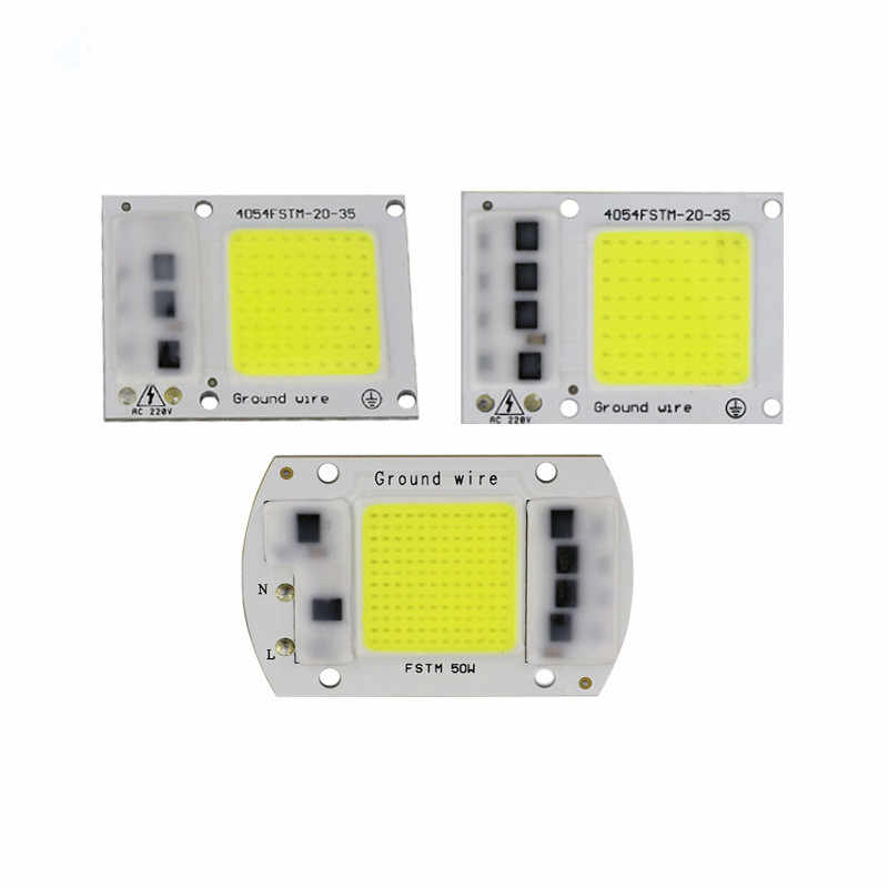 1PC COB LED Lamp Chip 220V IP65 No Need Driver Lampada LED Bulb Flood Light Chip 15W 20W 30W Diy Spotlight Lighting