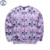 Mr.1991 marca 12-18 anos de miúdos grandes meninos moletom juventude moda muitos gatinho 3D impresso hoodies meninas jogger sportwear adolescentes W26