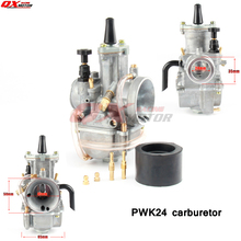 New 24mm Carb PWK Carburetor with power jet For koso oko keihi Fit 2 or 4 Stroke Motorcycle Moped Scooter motor Dirt Pit Bike цена