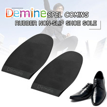 Demine Rubber Outsoles Repair for Men Leather Shoes Soles Non-slip Glue Stick Ground Grip Forefoot Pads Replacement Cushion Sole(China)