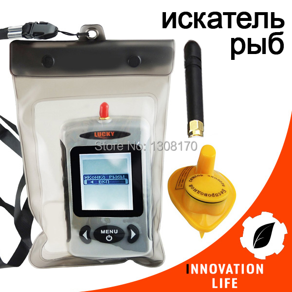 Russian FFW-718 LUCKY Fish finder Digital Wireless Fishfinder 45M Portable Sonar Sensor River Lake Sea with Waterproof Bag