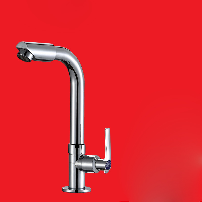 Free shipping Lowest price single cold kitchen sink faucet with polished surfacet kitchen water faucet by