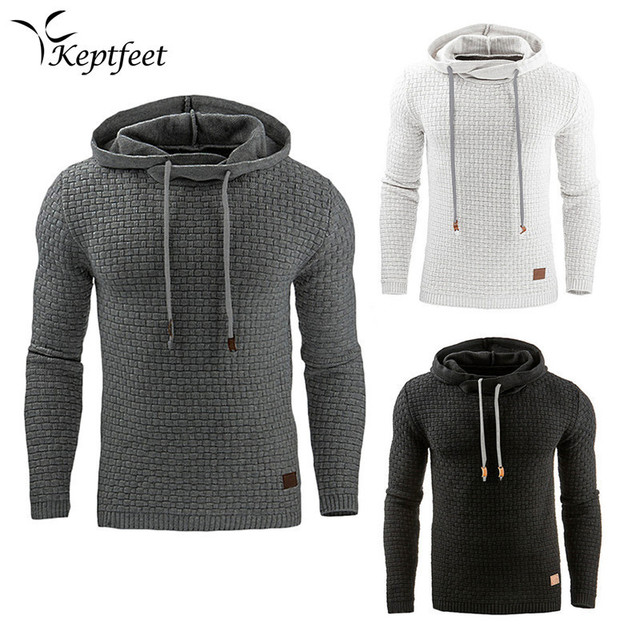 8143a0cb092 US $16.24 27% OFF|New Jacquard Men's Running Jackets Pullover Long Sleeve  Hoodies Warm Hooded Sweatshirt Basketball Jacket Sport Outwear Clothing-in  ...