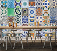 Custom Retro Wallpaper Moroccan Pattern Murals For Living Room Restaurant Bar Background Wall Decorative Papel De
