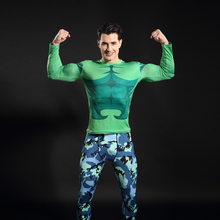 2017 Fashion Fitness Compression Shirt Men Cosplay Male Crossfit Plus Size Bodybuilding Men T shirt 3D Printed Superman Top