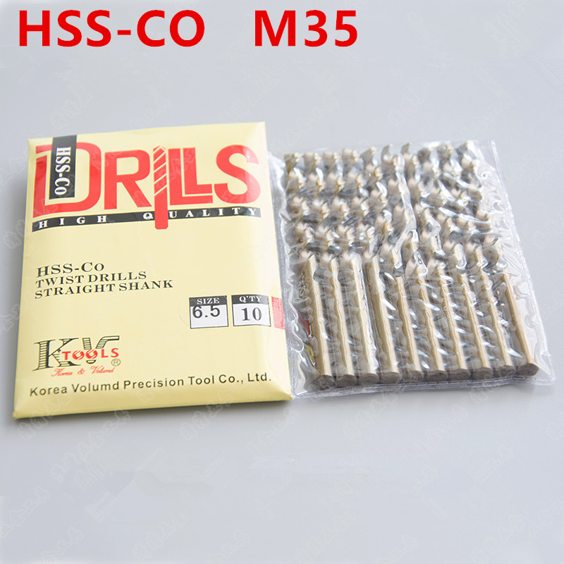 Brave 10pcs 3 4 5 6 7 8 9 10mm Containing Cobalt Drill Bit Hss-co M35 Conquer Stainless Steel