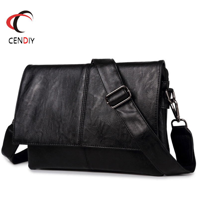 Brand Men's Briefcase PU Leather Messenger Travel Bag Simple Business Tote Man Casual Crossbody Briefcases Laptop Shoulder Bags