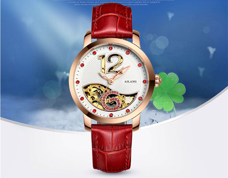 Lovely Bird Fish Hollow Women Mechanical Watches Self-wind Elegant Lady Crystals Dress Wrist watch Original AILANG Relojes W033Lovely Bird Fish Hollow Women Mechanical Watches Self-wind Elegant Lady Crystals Dress Wrist watch Original AILANG Relojes W033