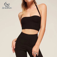 Women Crop Top Sexy Strappy Cami Camisole Women Tops Sleeveless Club Summer Stretchable Ladies Camisole Black Tank Sexy Elastic