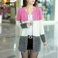 New Winter Spring Cardigans 2014 Women Fashion Mohair Cardigans Casual Tricotado Long Cardigan Women Sweaters For