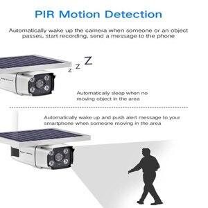Image 4 - 2019 neueste 4G SIM Karte Solar Panel Powered IP Kamera 1080 P Im Freien Sicherheit Cctv kamera mit Eingebaute batterie PIR Sensor YN88
