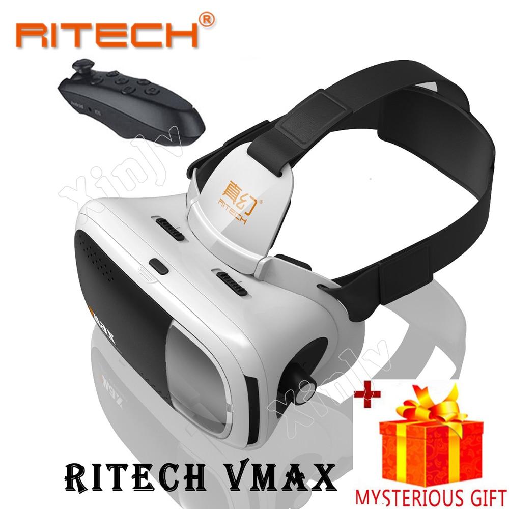 Casque RITECH VR Box 3 D 3D Virtual Reality Glasses Goggles Headset Helmet For Smartphone Smart Phone Lense Len Google Cardboard