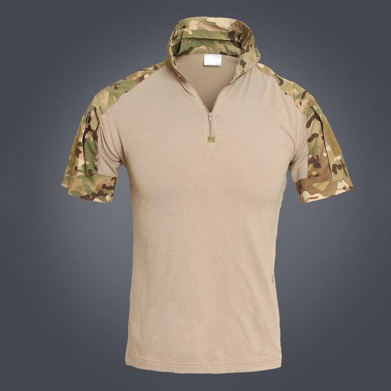 Refire gear летняя камуфляжная армейская боевая рубашка мужская Военная тактическая рубашка поло США страйкбольная камуфляжная рубашка поло с коротким рукавом - Цвет: CP