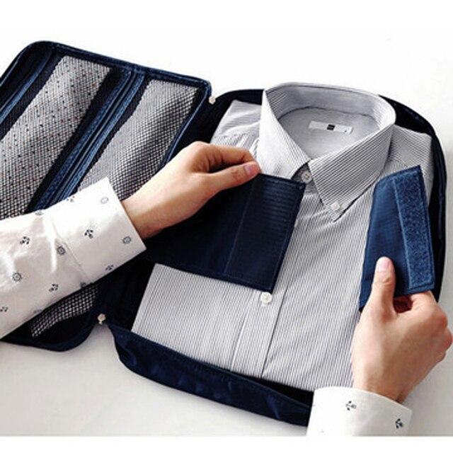 4a31725bdd8f Foldable Nylon Mesh Storage Packing Bag for Men s T Shirt Travelling  Organizer Case Organized Travel Bag To Protect T Shirt