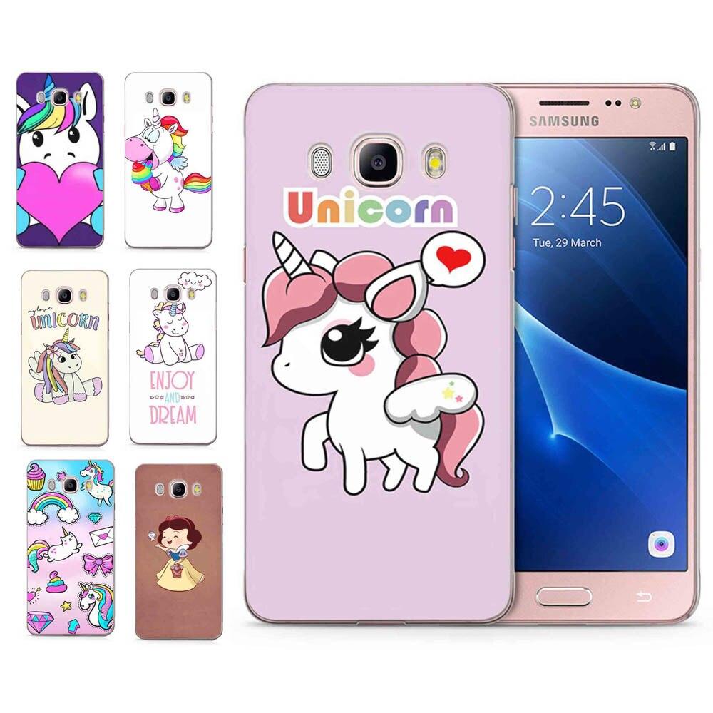 For Samsung Galaxy A5 2016 2015 2017 prime J1 J2 J3 J5 J7 G530H S8/plus Note 8 TPU Silicon Cute Cartoon Unicorn Cover Case C101