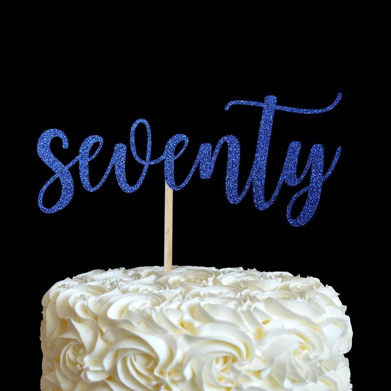 sedamdeset torta topper - mnoge boje glitter 70. rođendan dekor 70 - Za blagdane i zabave - Foto 3