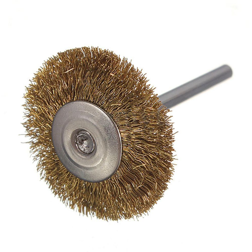 10x rotary mini tools steel wire wheel brushes cup rust cleaning - 10x 3mm Brass Wire Brush Cup For Rotary Dremel Tool Drill Rust Weld Die Grinder