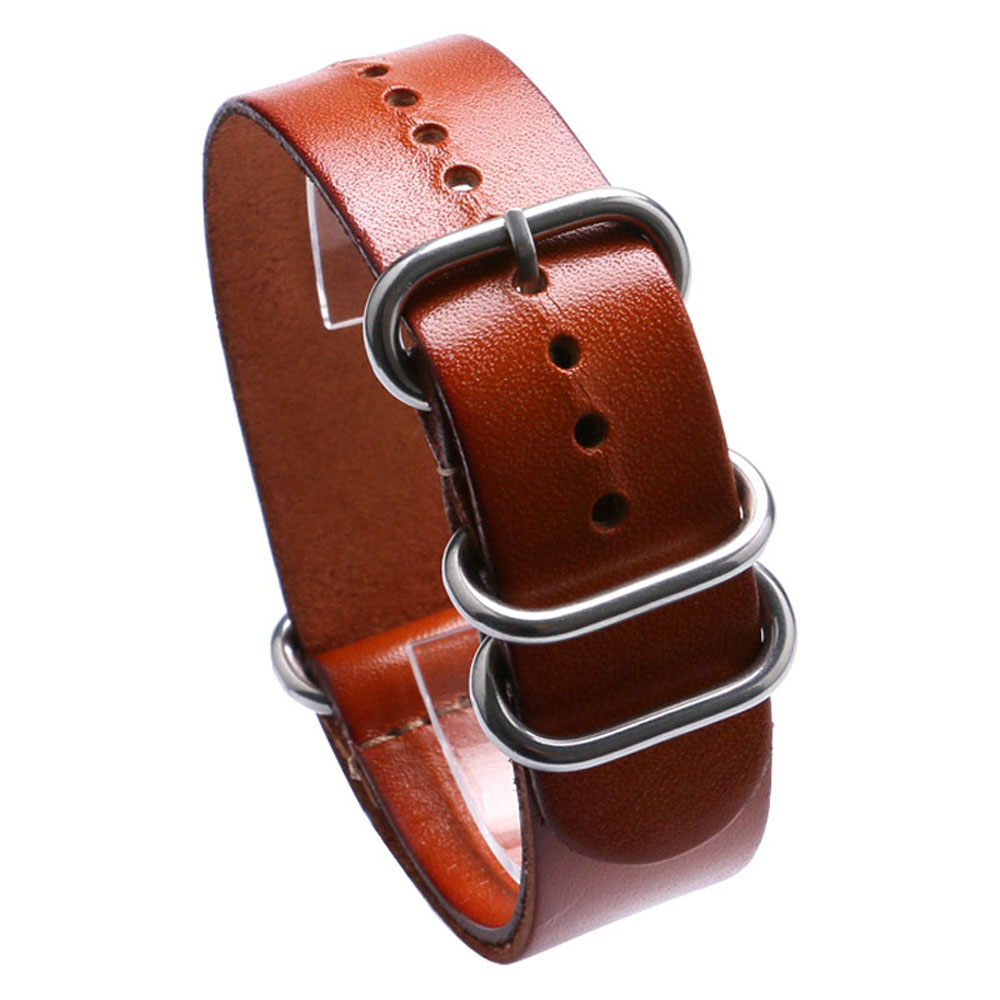 Cost-effective Brown 22MM Width Genuine Leather Strap Band With 2 Spring Bars For Sport Watches cost effective prevention