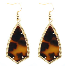 Gold Frame Rhombus Earrings