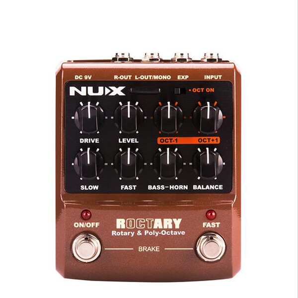 NUX Roctary Force Simulator Polyphonic Octave Stomp Boxes Electric Guitar Effect Pedal FET Buttered TSAC True Bypass nux amp force guitar effect pedal stomp boxes dsp modeling amp cabinet simulator 9 user presets true bypass