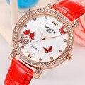 Senhoras de Luxo relógio de Quartzo Relógio Do Esporte Das Mulheres Homem Hardlex Relógio Resistente À Água Couro Genuíno de Strass Diamante Relógios