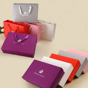 50pcs/lot High Quality Large Gift Box Gift Bag Bra Underwear Packaging Box Clothing Packaging boxes