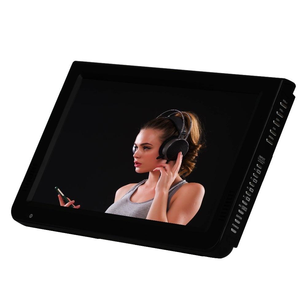 Leadstar 10 дюймов HD Портативный ТВ светодиодный дисплей цифровой аналоговый мини televizyon с антенной DVB-T2 Поддержка SD карты USB Разрешение ...