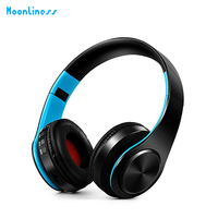 Moonliness Original Protable HiFi Gaming Headphone Earphones Foldable Wired Music Bass Headsets For Mobile Computer PC