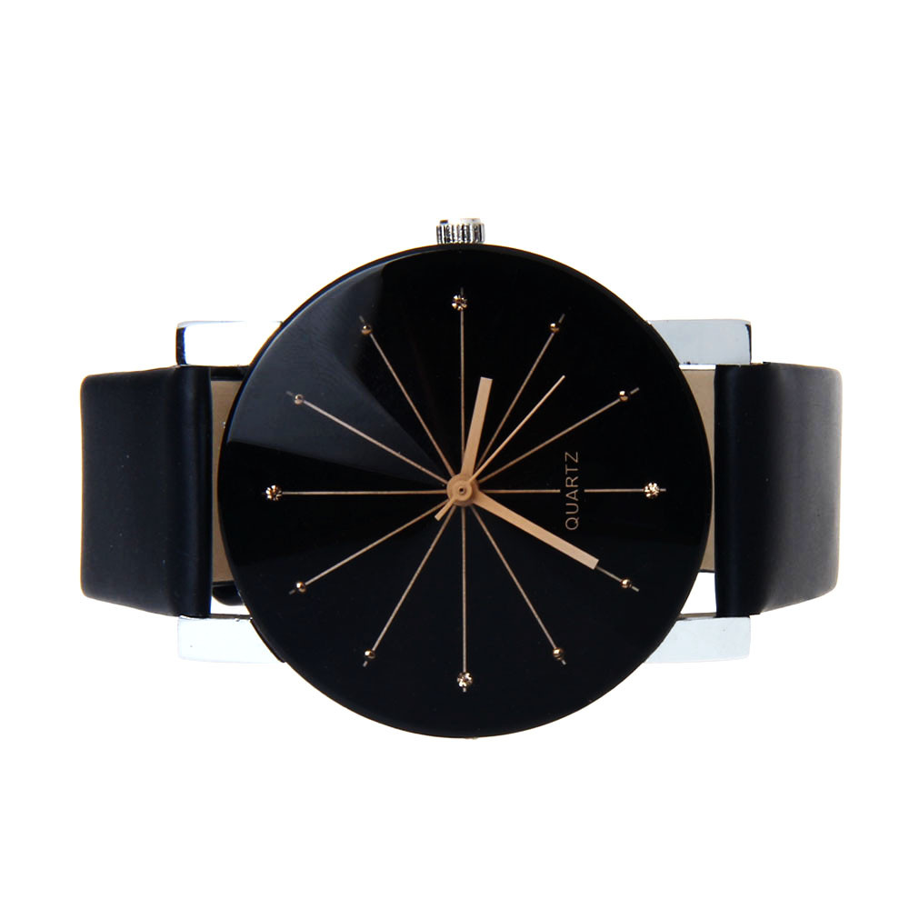 Wrist Watch For Men Women Watches  Needle Dial Clock Quartz-watch Male Wristwatch Casual Business Leather Dropship F528
